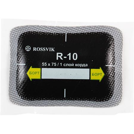 Пластырь кордовый для радиальных шин R-10  ROSSVIK 55х75 мм  уп 20 шт
