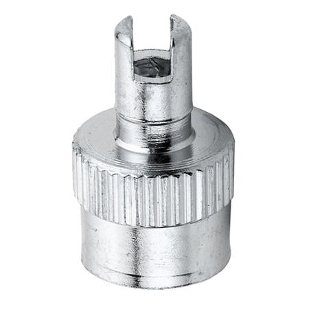 Колпачок для вентиля металлический со шлицем под отвертку 08-1003/VH51/1